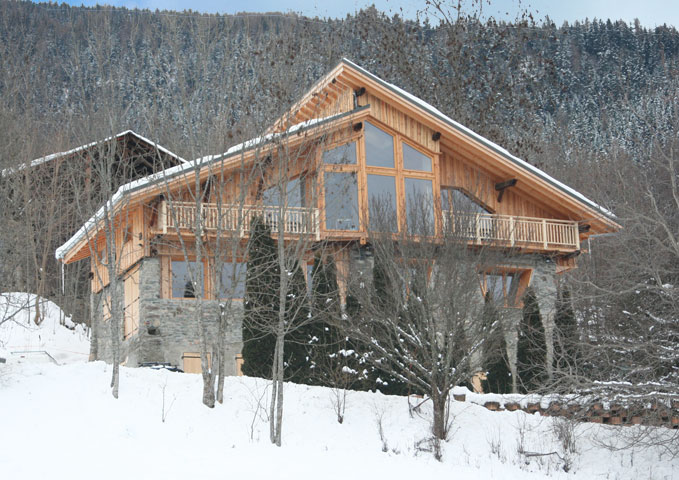 4d architecture renovation la plagne contemporary chalet - Chalet architectuur ...